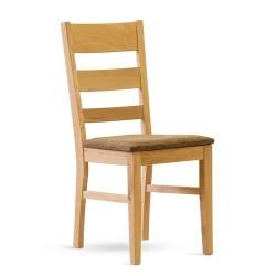 Dubová židle Paul čalouněná