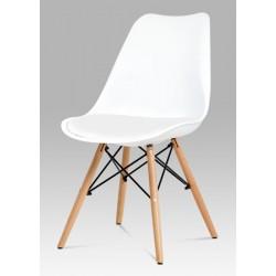 Židle skořepinová CT-741 bílá