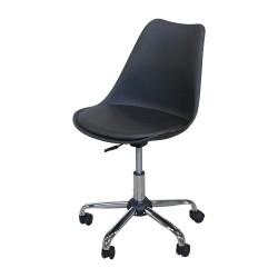 Otočná židle Prado černá