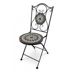 Židle kovová US 1007 černá