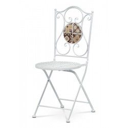 Židle kovová US 1001 bílá