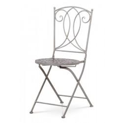 Židle kovová JF 2229 šedá