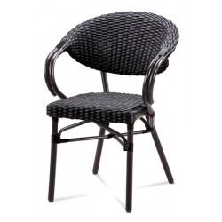 Židle kovová AZC-130 černá