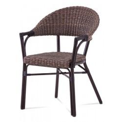 Židle kovová AZC-120 hnědá